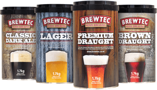 Photo of the Brewtec  Home Brew range